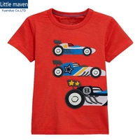 Wholesale 6pcs 1 6year Cotton Baby Boy T Shirt Red Kids Boys Clothes High Quality Summer