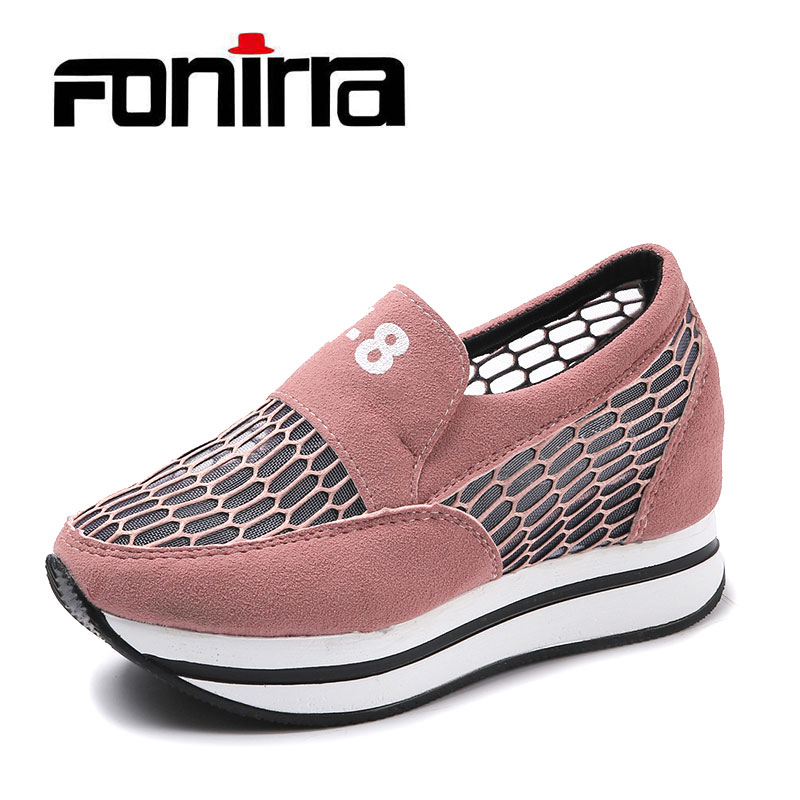 FONIRRA 2018 Nya Casual Shake Shoes Kvinnor Sommar Candy Colors Andas - Damskor