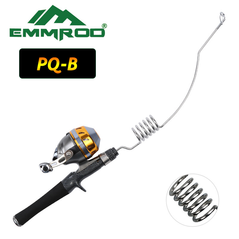 NEW Emmrod Fishing Combo Casting Pole Spinning Rod &spincast reel Stainless Portable Casting Fishing Pole Rod Fishing Tackle PQB dream m19 multifunctional opie fishing reel bag fishing bags pole tackle military lure reel backpack fishing gear 33 13 23cm
