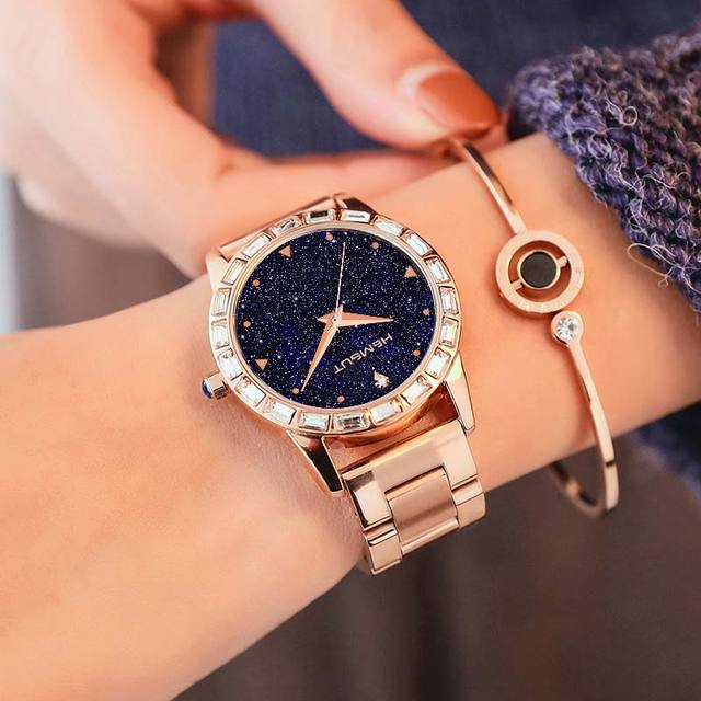1398951040c3 2018 TORBOLLO Fashion Quartz Watch Women Rose Gold 316L Steel Band Galaxy  Design Women Wrist Watch with box