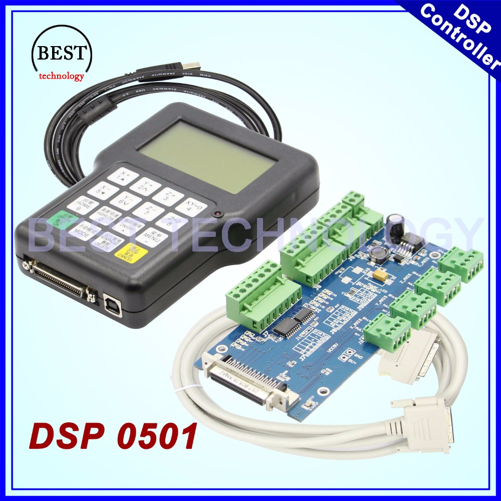 цены Free Shipping !! DSP 0501 controller 3 axes English Version DSP0501 handle controller 3 axis CNC router remote
