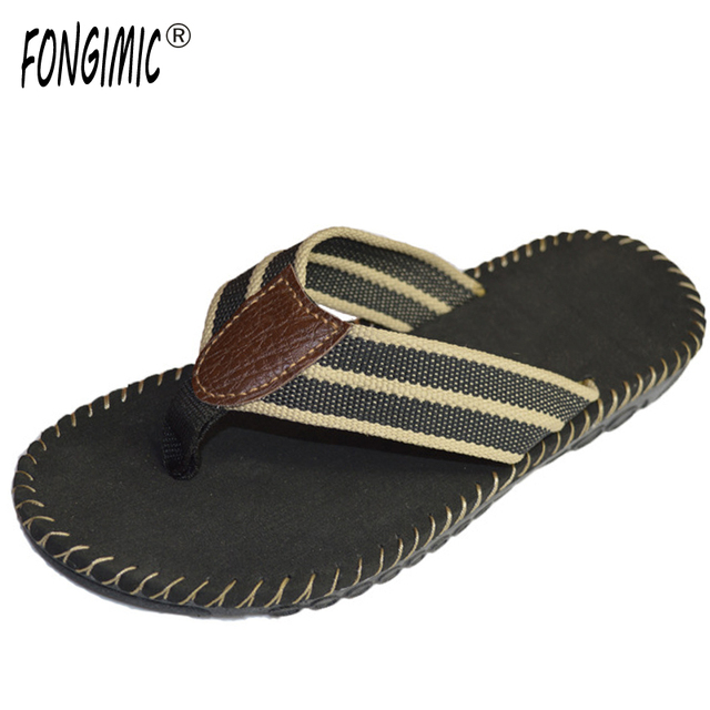 9ccd678fc4701 Men Summer Flip Flops Comfortable Non Slip High End Simple Slippers Men  Fashion Casual Beach Leather Style Flat Men Flip Flops