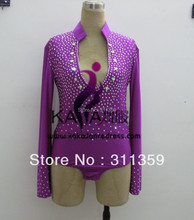 Free shipping,any colour any size competition Man's latin shirt,man,boy's dance suit-KAKA-M104(stone by yourself)