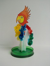 2017 Hot Big Colourful Magic Growing Paper Parrot Trees Magical Grow Tree Arbre Magique Science Christmas Kids Toys For Children