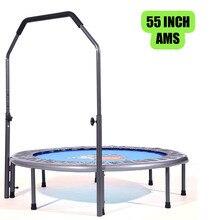 55 дюймов мини Rebounder Складной батут с регулируемым поручнем