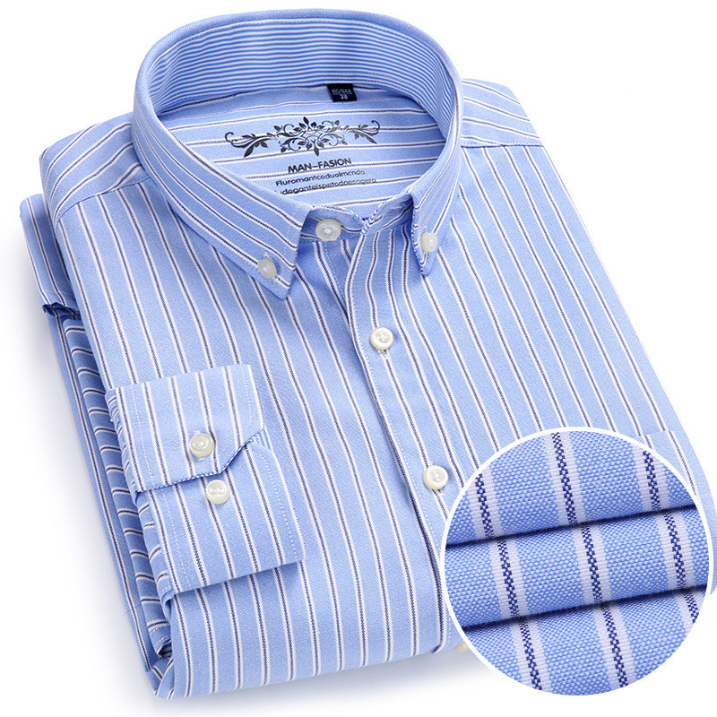 Casual Herrenhemden Große 6XL Männer gestreiftes Hemd Neues Design Super High Quality Business Shirt Männer Marke Oxford Herrenhemd