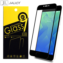 JALICY Meizu M5 M 5 m5 Glass Tempered Full Display screen Cowl Mei zu Meilan 5 M5 Tempered Glass meilan5 protector Movie Protection 5.2″