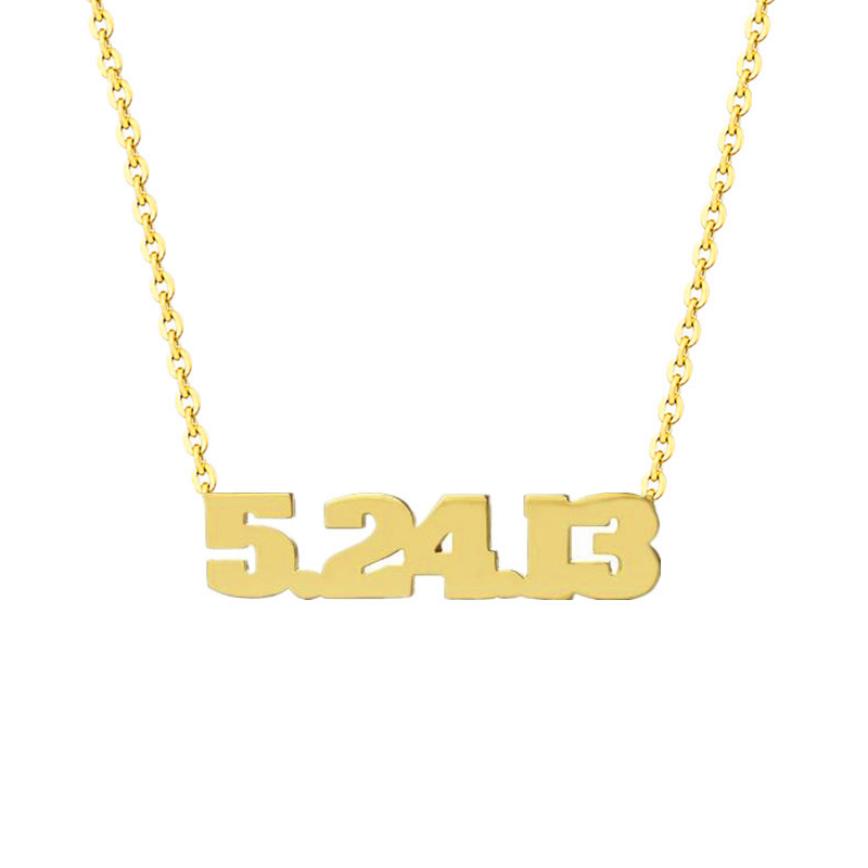 Jewellery & Watches Supply Custom Date Of Birth Necklace Birthday Jewelry Stainless Steel Rose Gold Ketting Personalized Numbers Numerals Choker Necklace Strengthening Sinews And Bones