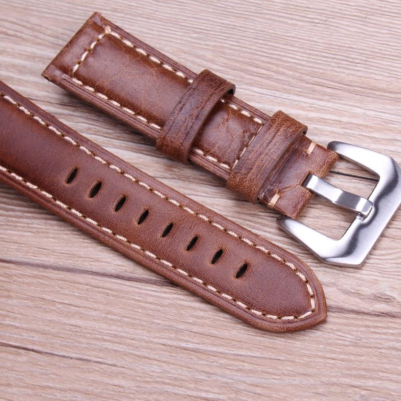 Чанти с ретро естествена кожа кафяви - Аксесоари за часовници - Снимка 6