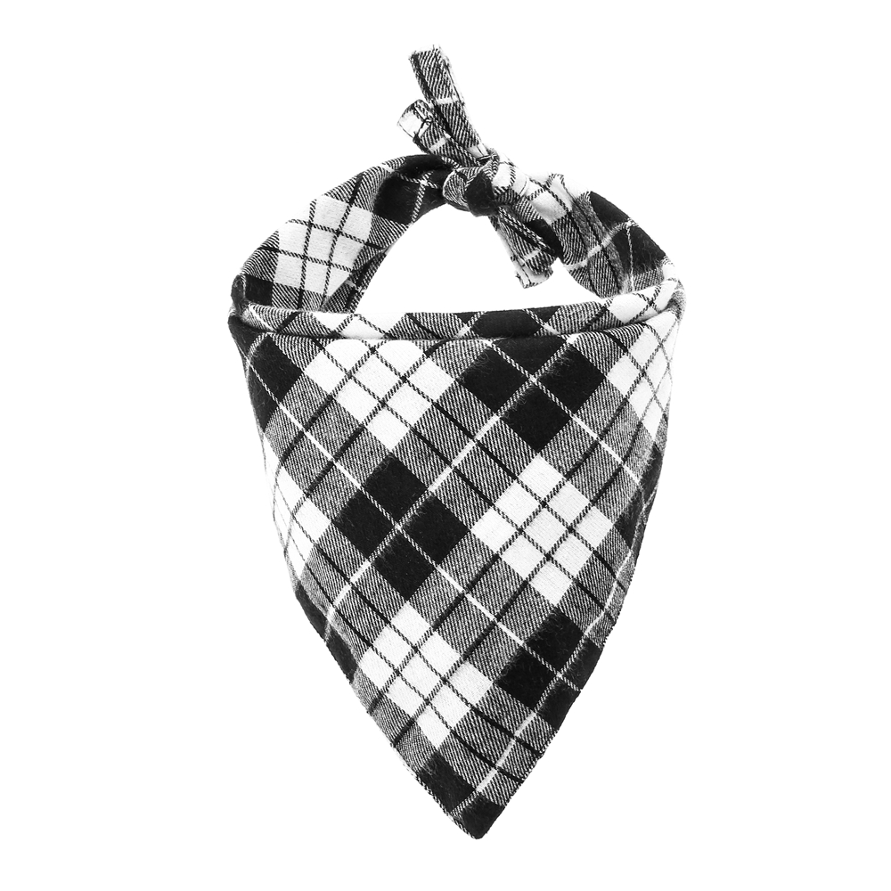 Handmade Personalized Scottish Style Reversible Triangular Bibs Scarf Accessories for Dogs Cats Pets Animals in Dog Accessories from Home Garden