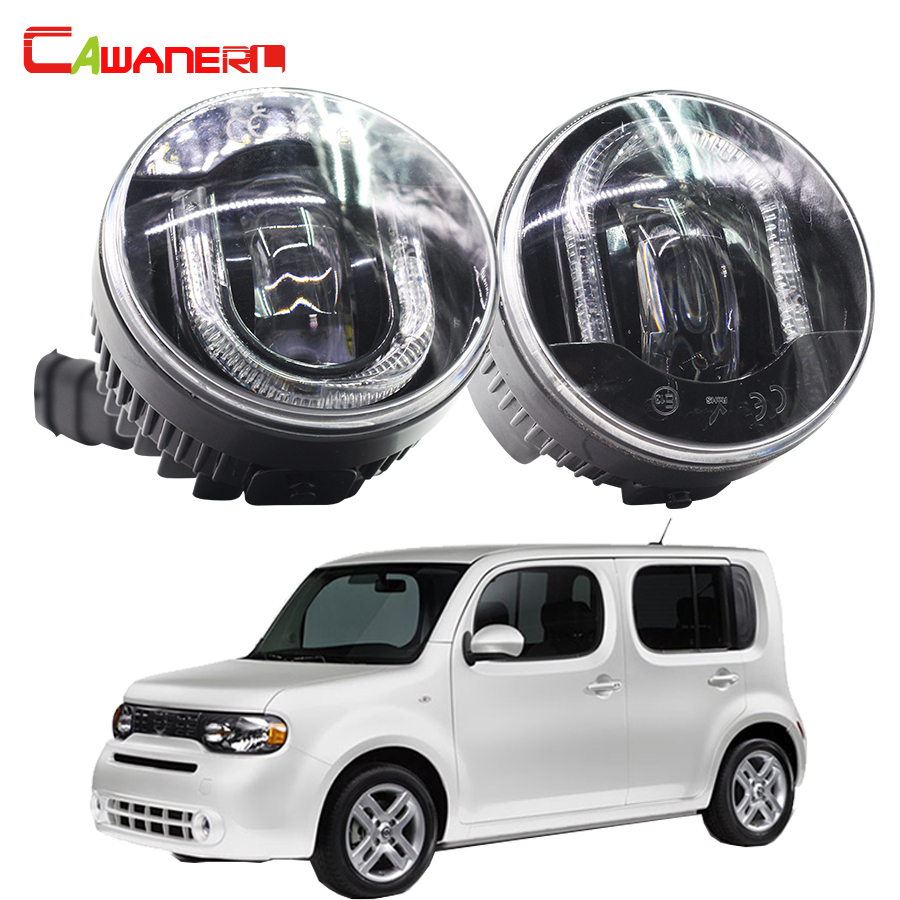 Cawanerl For Nissan Cube Z12 Hatchback 2010- Car Light Source Accessories LED Fog Lamp DRL Daytime Running Lamp 1 Pair крышка бензобака для автомобиля nissan cube екатеринбург