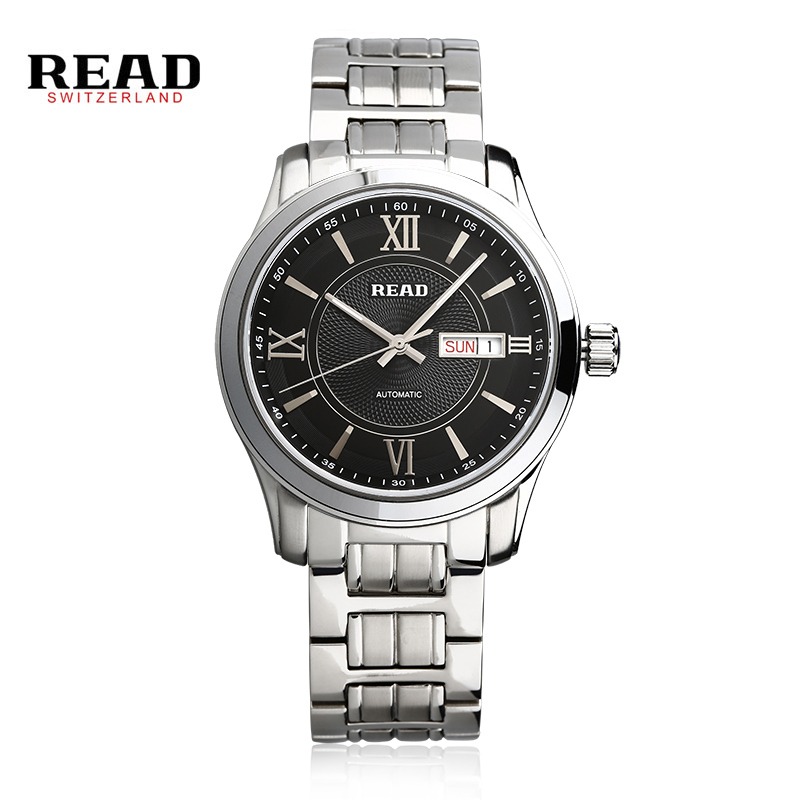 READ Fashion Luxury Brand Read Men Wacth Tourbillon Hollow Calendar Automatic Mechanical Watch Mens Watches With Box Gift PR156 цена и фото