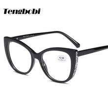 Rhinestone Reading Glasses Women Cat Eye men Shape Reading Eyeglasses Degree 50