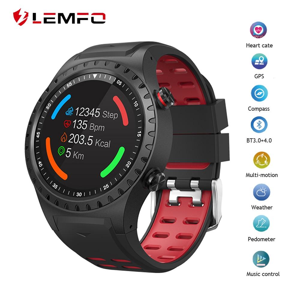 LEMFO Smart Watch Men IP67 Waterproof Support SIM card Bluetooth Dial Call Heart Rate Monitor Multi