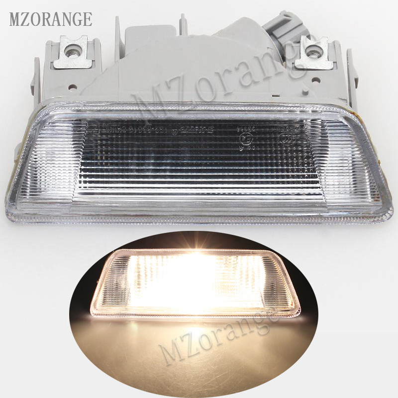 MZORANGE White Clear Car Rear Reverse Brake Reflector Lights Lamp Bumper Fog Light For Nissan X-Trail 2008 2009 2010 2011 2012 rear fog lamp spare tire cover tail bumper light fit for mitsubishi pajero shogun v87 v93 v97 2007 2008 2009 2010 2011 2012 2015
