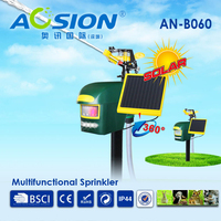 Aosion Multifunctional Solar Motion Activated Sprinkler Animal Repeller Repel Deer Birds Dog Foxes Away