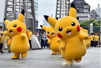 Pikachu Pokemon Mascot Costume Fancy Dress Outfit Free Shipping for adult Halloween Carnival party event