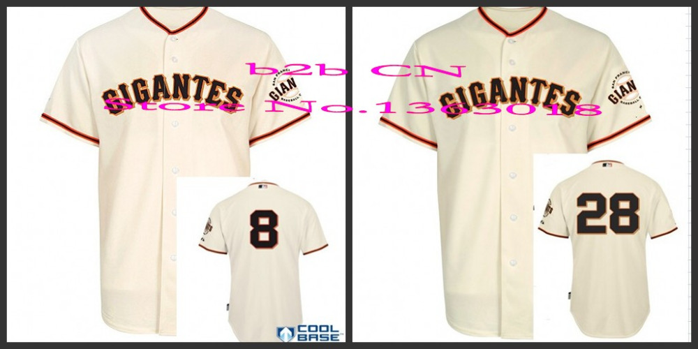 new style 80366 d6b31 Authentic SF San Francisco Giants gigantes jersey stittched ...