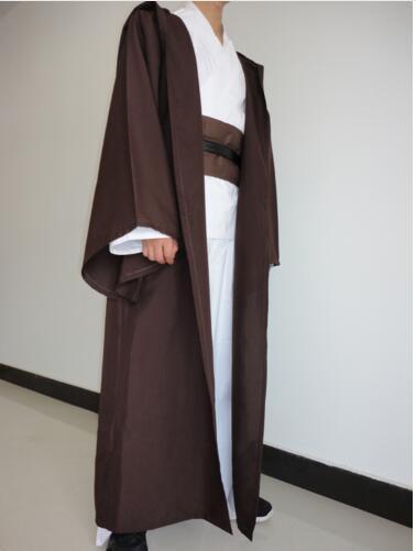 New Star Wars Jedi Hooded Robe Cloak Cape Costume Adult Men Black Darth-Vader-Costume Halloween Christmas Dress
