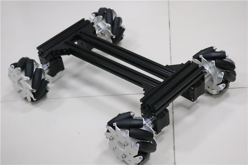 large smart Mecanum RC robot Car Metal Chassis Frame with 42 Stepper Motor for Arduino DOIT 2018 New Design diy rc toy kit 4wd 60mm mecanum wheel arduino robot kit 10021