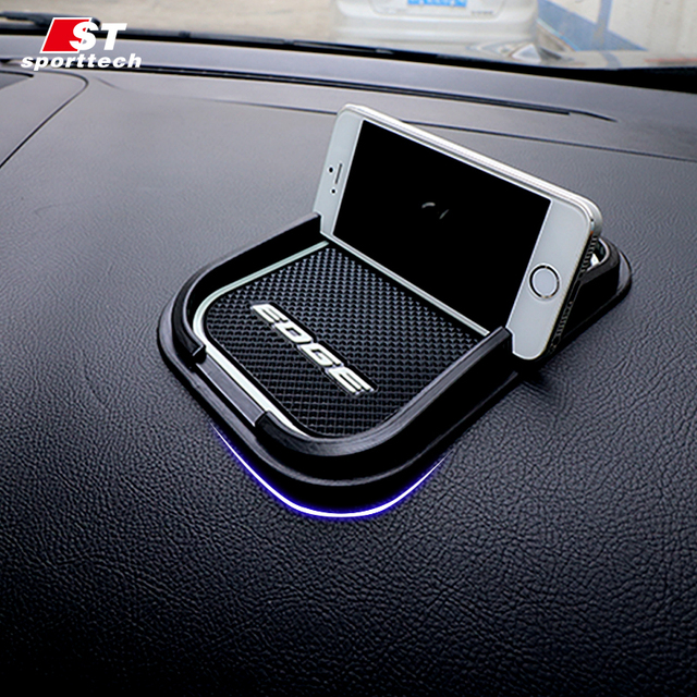 Car Door Gate Mat For Ford Edge Car Interior Slot Pad Tank Gasket Cup Slot Mat