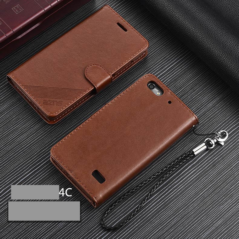 AZNS Honor 4C PU Leather Case Flip Cover Card Holder Wallet Case for Huawei Honor 4C protective holster fundas coque