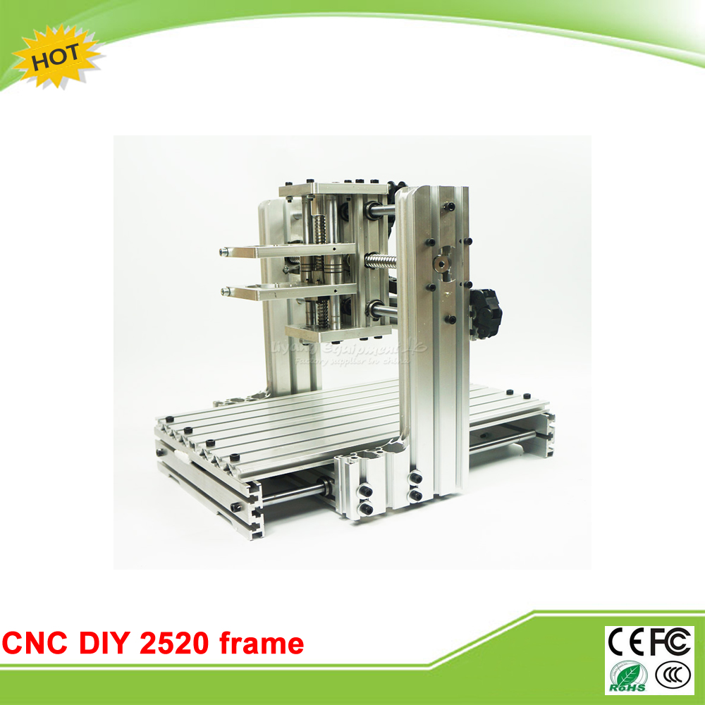 DIY CNC machine 2520 Base frame kit  for wood router engraving no tax to EU high quality 3040 cnc router engraver engraving machine frame no tax to eu
