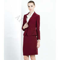 Wine Red Skirt Suit Women Office Ladies 2 Piece Suits High Quality Formal OL Work Wear Business Elegant Female Office Uniform