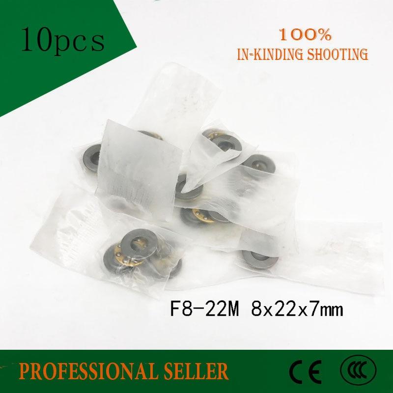 Freies verschiffen 10 stücke F8-22M f8-22 M hohe qualität schub kugellager 8x22x7mm miniatur lager