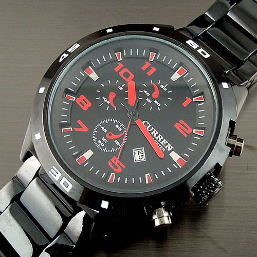 WH150 CURREN NEW 2016 WHOLESALE FASHION SPORT WATER QUARTZ HOURS DATE HAND RED DIAL CLOCK MEN STEEL WRIST WATCH FREE SHIPPING цена