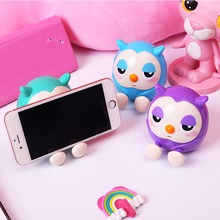 Phone Holder Cute owl Support Mobile Stand Tablets Desk holder high quality Smartphone mount with piggy bank
