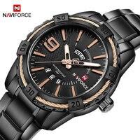2018 Men S Watches Fashion Brand NAVIFORCE Sport Quartz Watch Men Waterproof Analog Wristwatches Stainless Steel