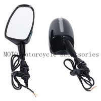 6mm Thread LED Rearview Rear View Wing Side Mirrors For Kawasaki Ninja 500 1994 2006 2007 2008 ZZR 600 2005 2008 ZX 10R 2004 07