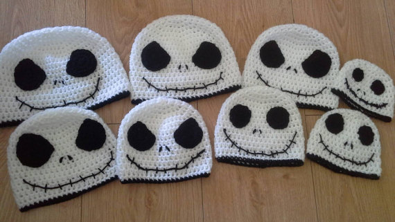 Skeleton Beanie Skull Beanie Hat Halloween Crocheted Charater