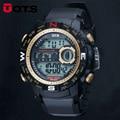 2016 Nueva Marca OTS Hombres Reloj Militar LED Digital, 50 M de Buceo Nadar Vestido de Relojes Deportivos de Moda Al Aire Libre Reloj de Pulsera Horas