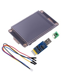 Nextion enhanced 2.8 cal HMI LCD ekran dotykowy NX3224K028 + CP2102 usb na ttl 6 w 1 seryjny konwerter portów Adapter w Wyświetlacze od Elektronika użytkowa na