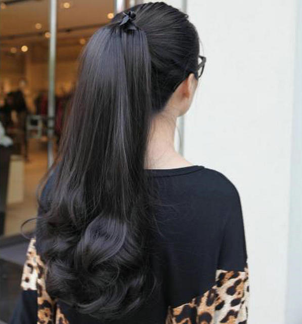 Clip In Long High Black 1B Bottom Curly Hairstyles Human -1539