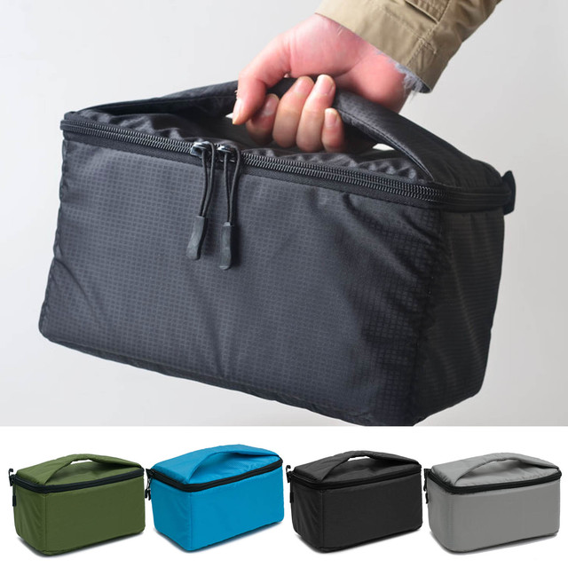 Besegad Portable Camera Insert Padded Bag Case Pouch Holder Shockproof With Dividing Parion For Dslr Sony