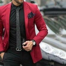 Красные мужские костюмы с брюками на заказ свадебные смокинги