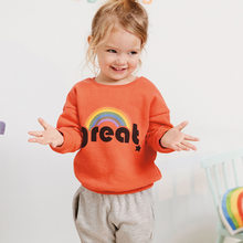 Little maven 2019 autumn new baby girls brand clothes letter print rainbow toddler orange sweatshirts baby girl outfit C0164(China)