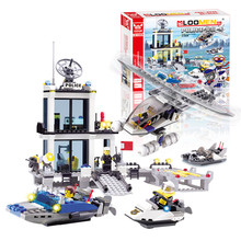 Фотография New year gifts Playmobile Building Blocks bus Police Station truck City Plane ship Motorcycle Kids Children Toys Christmas Gifts