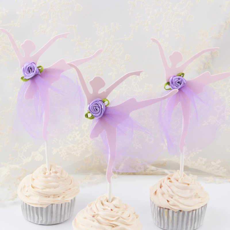 3 шт./лот бальное платье для девочек, украшение для именинного торта пирожного для украшения детского душа детский день рождения Свадебные сувениры Аксессуары