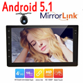Android5.1 Double 2 din car autoradio GPS navigation video player Android 2 din car audio stereo touch screen mirror link+camera