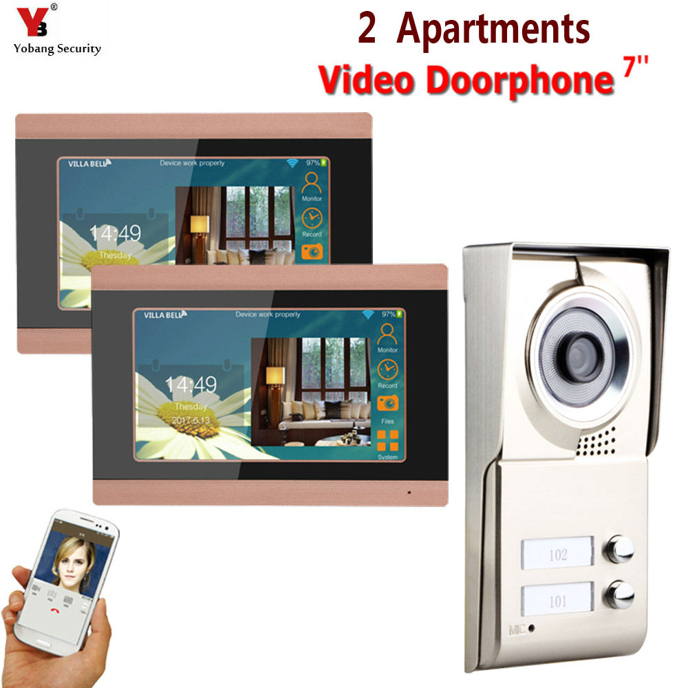 2 Monitor Two Apartments 1.0MP 720P AHD IP WIFI 7