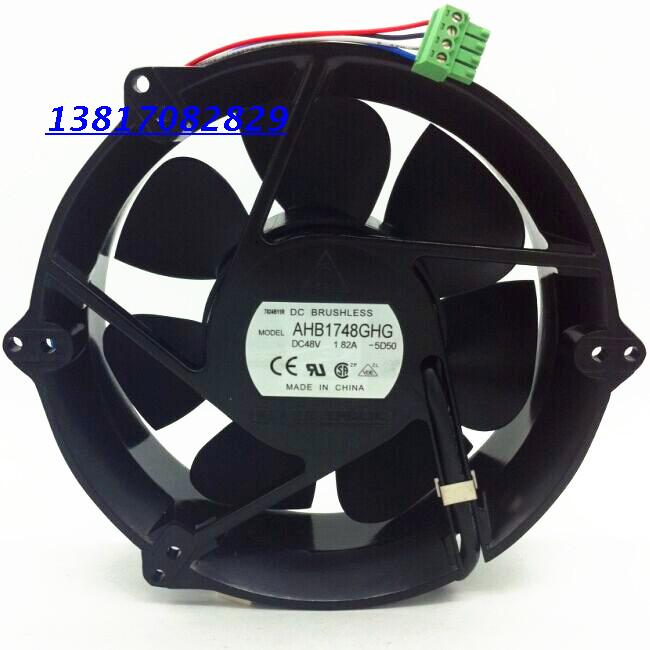 Free Shipping NEW and Original For delta ahb1748ghg 48v 1.82a 4 wire pwm cooling fan free shipping new original sanyo 9bam24p2g17 dc24v 0 9a 97 33mm 9cm large wind blower cooling fan