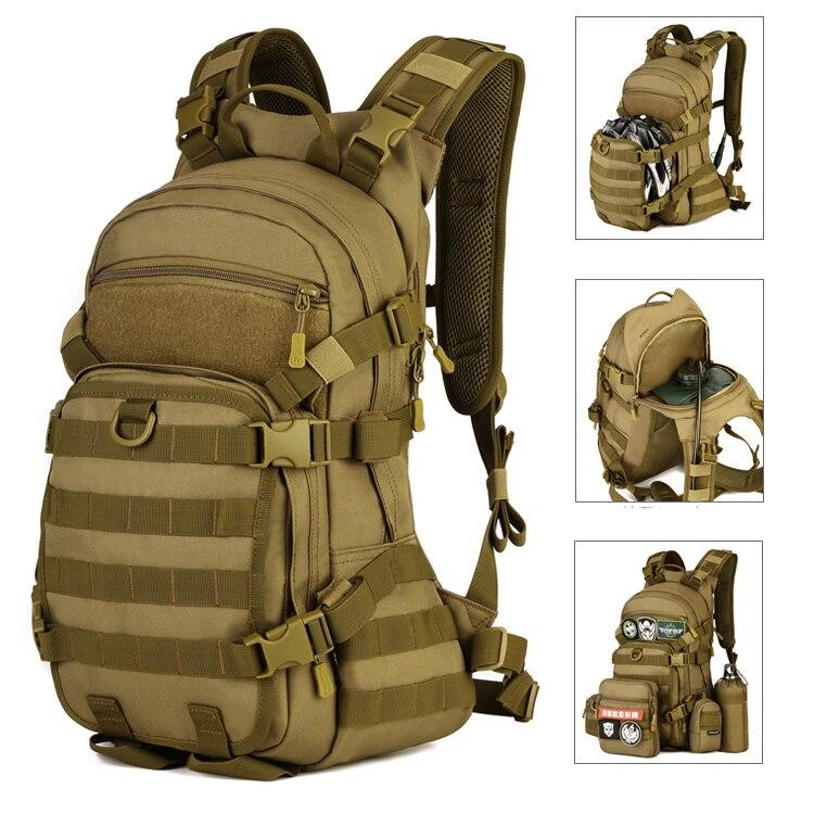 Sac d'équitation de vitesse 25L sac à dos tactique extérieur sac de casque de cyclisme et sac à eau sac à dos de sport de plein air sac d'alpinisme S435