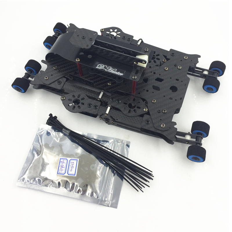 Mini DH410 FPV Folding Carbon Fiber Quadcopter Frame FPV with Retractable Landing Skid 410mm Wheelbase for