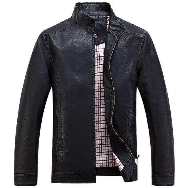 2016 Искусственной Кожи Куртки мужские Одежды Весна Осень Пальто Мужчины Outwears Марка Одежда Бизнес мужская Куртка 3XL WA093