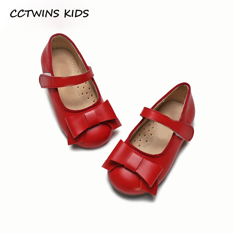 CCTWINS KIDS 2018 New Spring Baby Girl Bow Mary Jane Toddler Genuine Leather Flat Children Fashion Party Brand Black Shoe GM2135 cctwins kids 2018 spring fashion pink princess butterfly shoe children genuine leather mary jane baby girl party flat gm1942