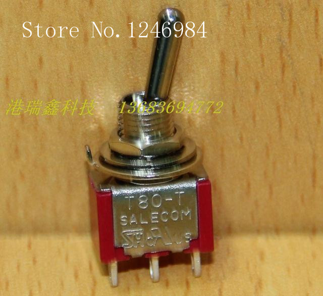 [SA]<font><b>T8013</b></font> single tripod two tranches M6.35 small toggle switch to move the switch toggle switch T80-T Taiwan SH--100PCS/LOT image